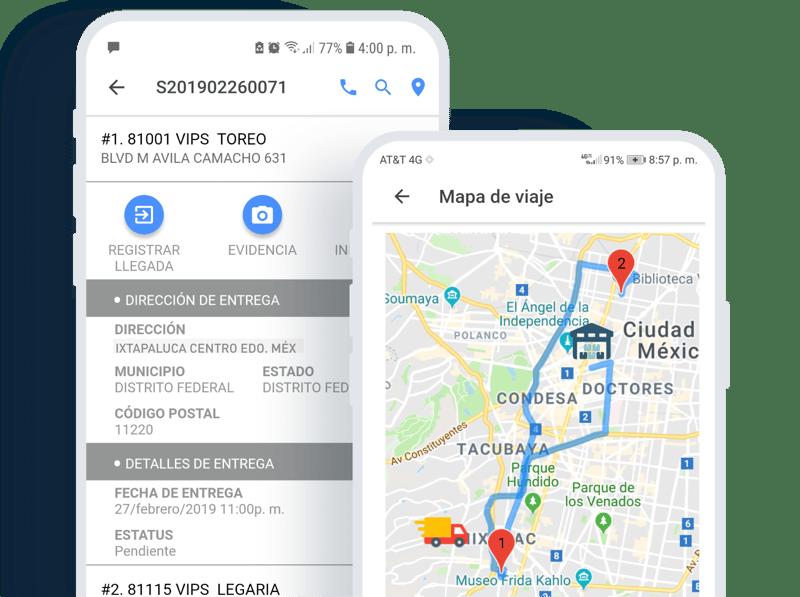 Aplicación móvil para transportistas