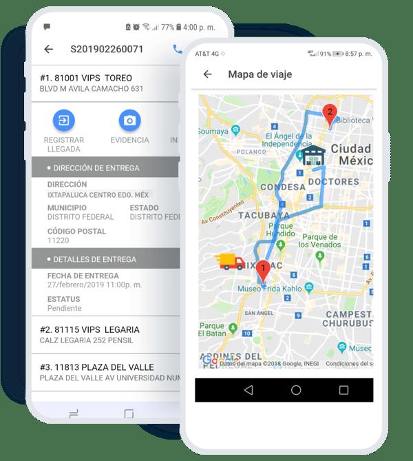 Aplicación para transportistas